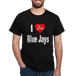 I Love Blue Jays (Front) Black T-Shirt