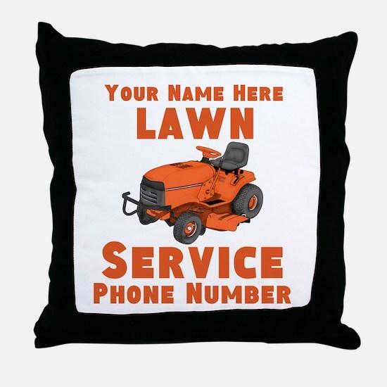 Lawn Service Throw Pillow