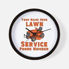 Lawn Service Wall Clock
