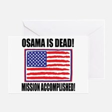 Mission Accomplished Osama Dead Greeting Card