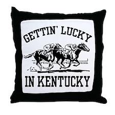 Gettin' Lucky in Kentucky Throw Pillow