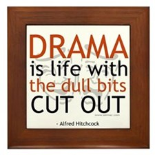 Alfred Hitchcock Drama Quote Framed Tile