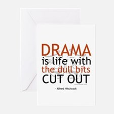 Alfred Hitchcock Drama Quote Greeting Cards (Pk of