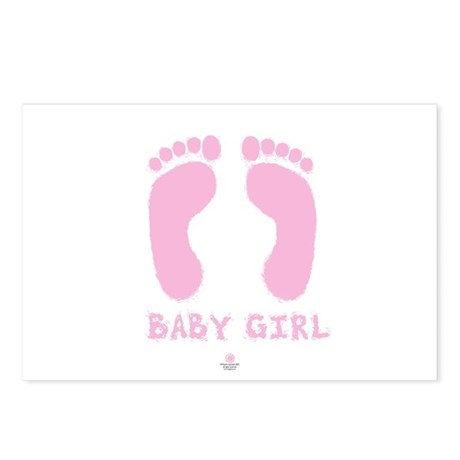 Baby Girl Postcards (Package of 8)