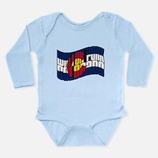 Winter Park CO Flag Long Sleeve Infant Bodysuit