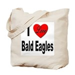 I Love Bald Eagles Tote Bag