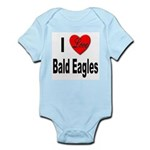 I Love Bald Eagles Infant Creeper