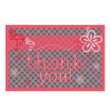 Baby Shower Thank-You Postcards-Girl (8 each)