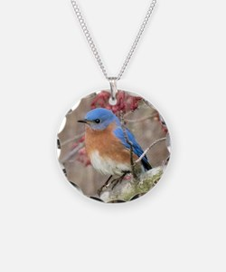 Eastern Bluebird Necklace