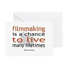 """""""Filmmaking is ..."""" Greeting Cards (Pk of 10)"""