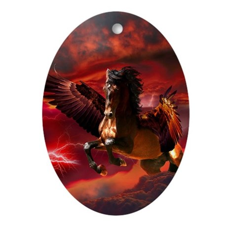 Pegasus Ornament (Oval)