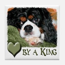 Loved by a King Tile Coaster