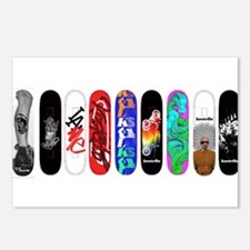 Funny Skateboard Postcards (Package of 8)