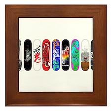 Unique Skateboarding Framed Tile