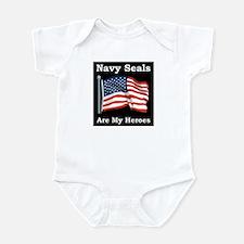 Navy Seals Are My Heros Infant Bodysuit