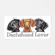 Dachshund Lover Aluminum License Plate