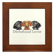 Dachshund Lover Framed Tile