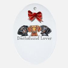 Dachshund Lover Ornament (Oval)