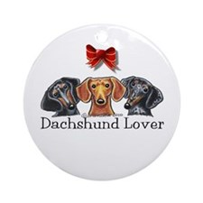 Dachshund Lover Ornament (Round)