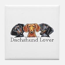 Dachshund Lover Tile Coaster