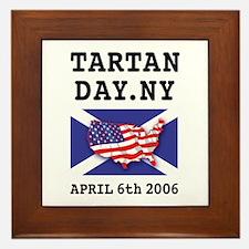 Tartan Day Framed Tile