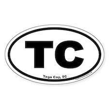 Tega Cay TC Euro Oval Decal