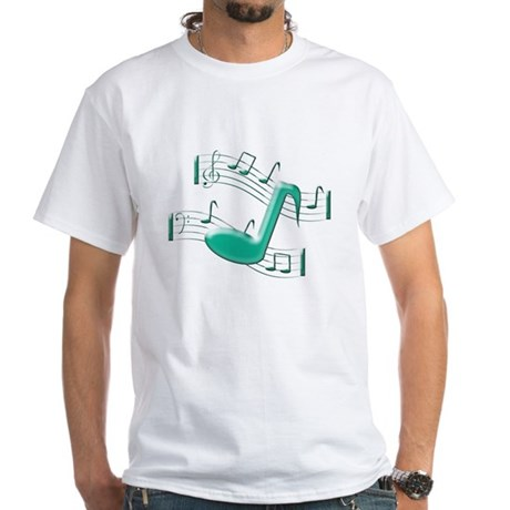 Musical Note White T-Shirt