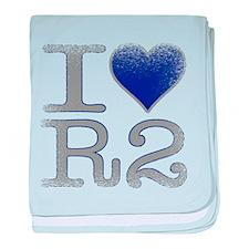 I Love R2 (Vintage) baby blanket