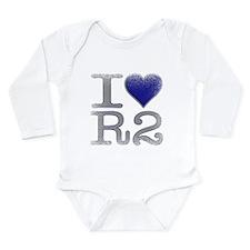 I Love R2 (Vintage) Long Sleeve Infant Bodysuit