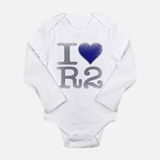 I Love R2 (Vintage) Long Sleeve Infant Bodysuit