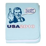 USA 2010 baby blanket