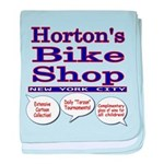 Horton's Bike Shop baby blanket