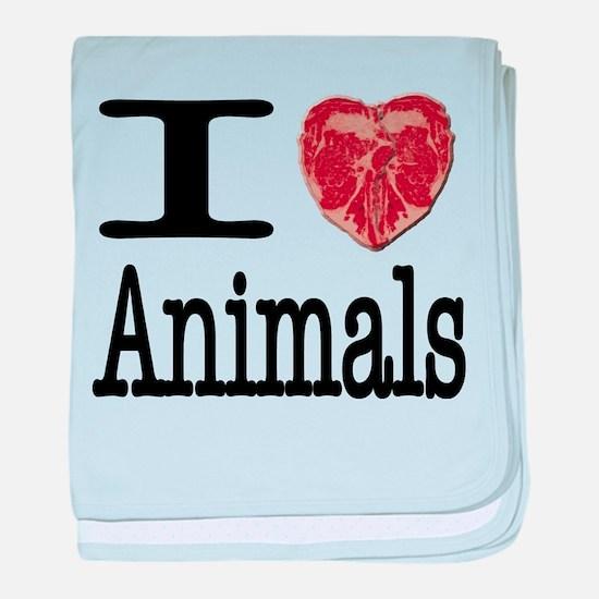 I Heart Animals baby blanket