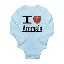 I Heart Animals Long Sleeve Infant Bodysuit