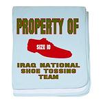 Iraqi Shoe Tossing baby blanket