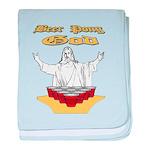 Beer Pong God baby blanket