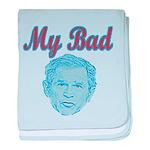 Bush's Bad baby blanket