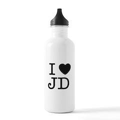 I Heart J.D. Water Bottle