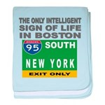 Boston Intelligence baby blanket