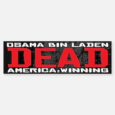 Osama Dead Bumper Bumper Sticker