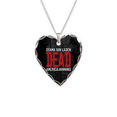Osama Dead Necklace Heart Charm