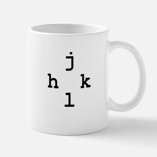 h-j-k-l vim navigation Mug