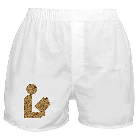Library Leopard Print Logo Boxer Shorts