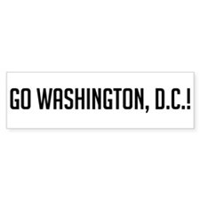 Go Washington, D.C.! Bumper Bumper Sticker