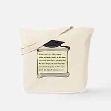 Class of 2011 Poem Tote Bag