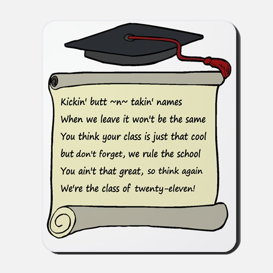 Class of 2011 Poem Mousepad