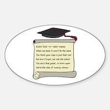 Class of 2011 Poem Sticker (Oval)