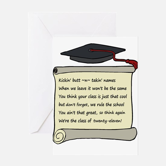 Class of 2011 Poem Greeting Card
