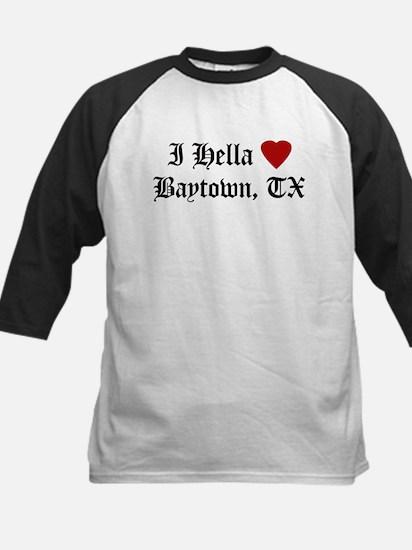 Hella Love Baytown Kids Baseball Jersey