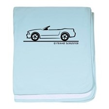New Ford Mustang Convertible baby blanket